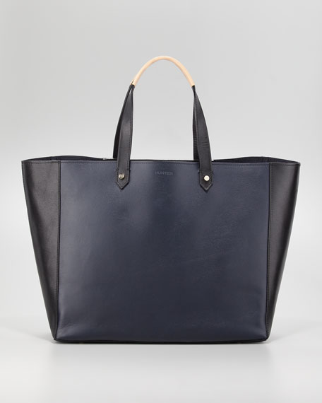 Cara Rubber/Leather Shopper