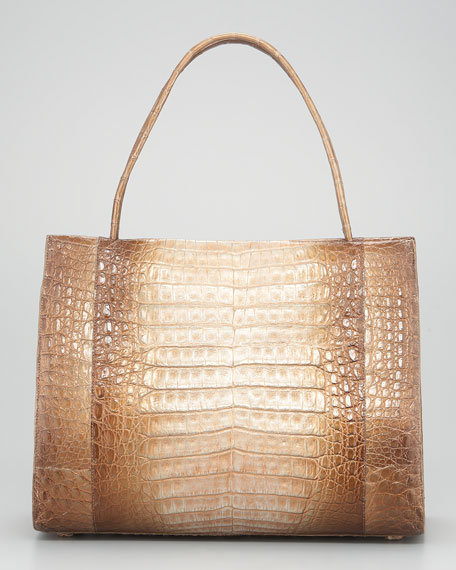 East-West Crocodile Tote Bag