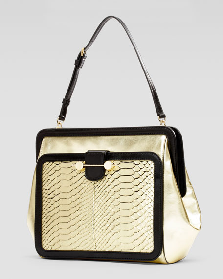 Daphne Python Satchel Bag