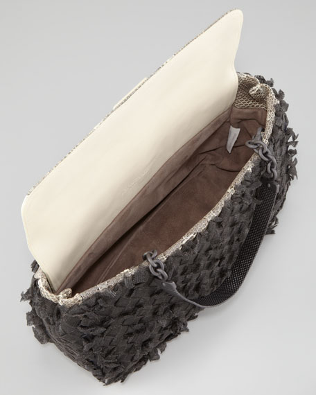 Woven Metal Mesh Handbag