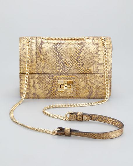 Alexa Python-Embossed Shoulder Bag