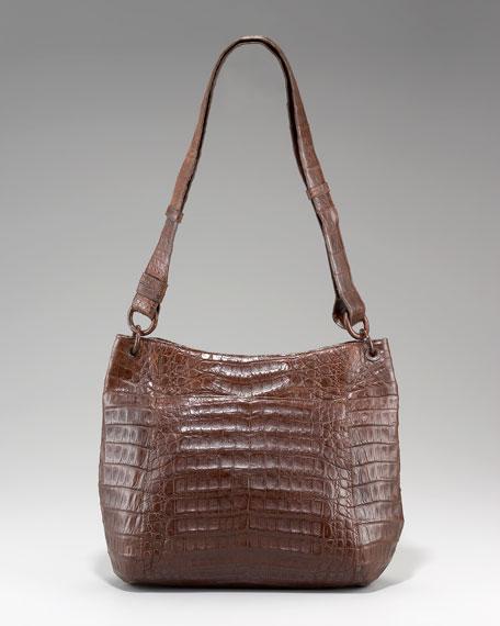 Crocodile Bucket Messenger Bag