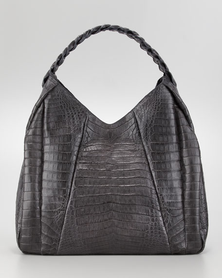 Braid-Strap Hobo Bag