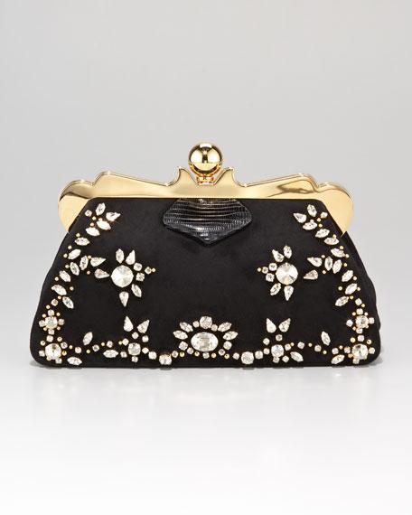 Embellished Framed Clutch Bag