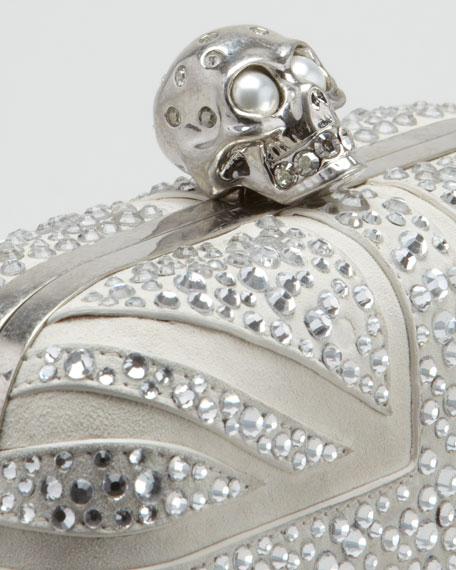 Crystal Britannia Box Clutch Bag, Gray