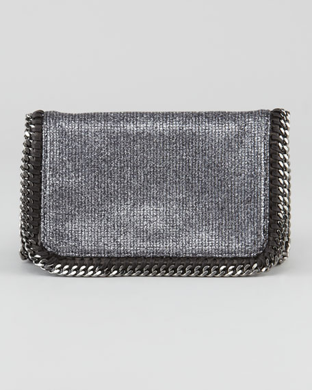 Faux Leather Crossbody Bag, Pewter
