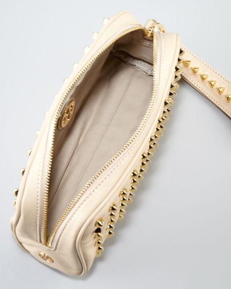 Pyramid Stud Clutch Bag, Pale Khaki
