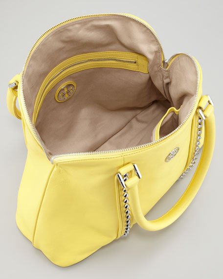 Pyramid Stud Dome Tote Bag, Yellow
