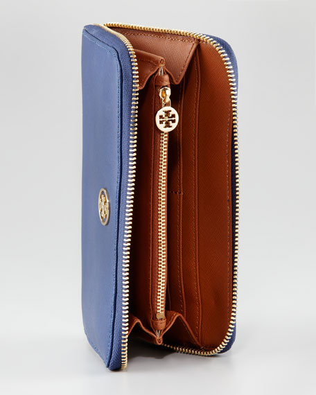 Robinson Continental Zip Wallet, Indigo/Luggage