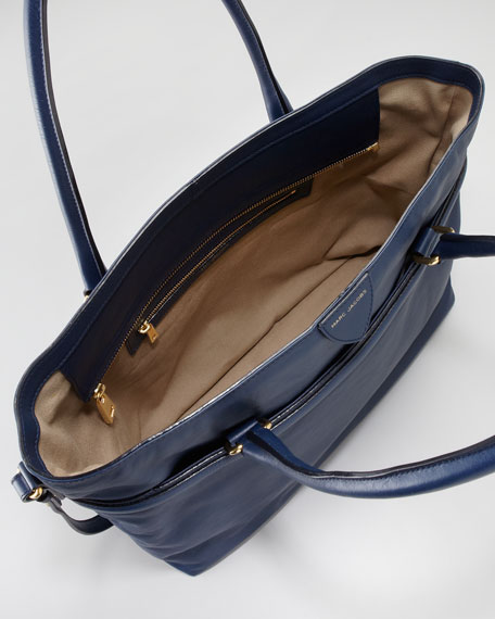 Raleigh Leather Tote Bag, Navy