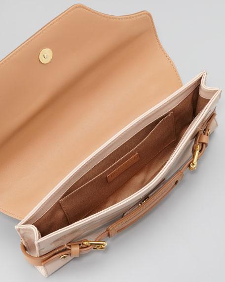Clapton Patent Clutch Bag, Warm Beige