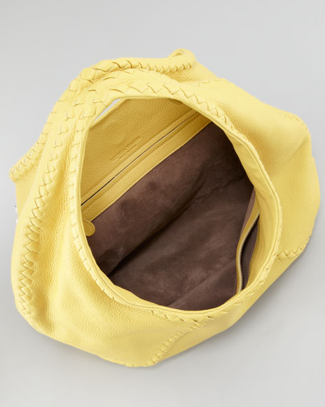 Cervo Large Hobo Bag, Yellow