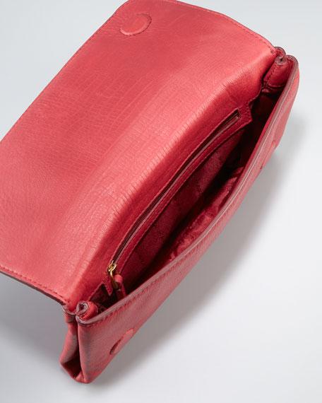 Katie Snake-Embossed Bracelet Clutch Bag, Lipstick Red