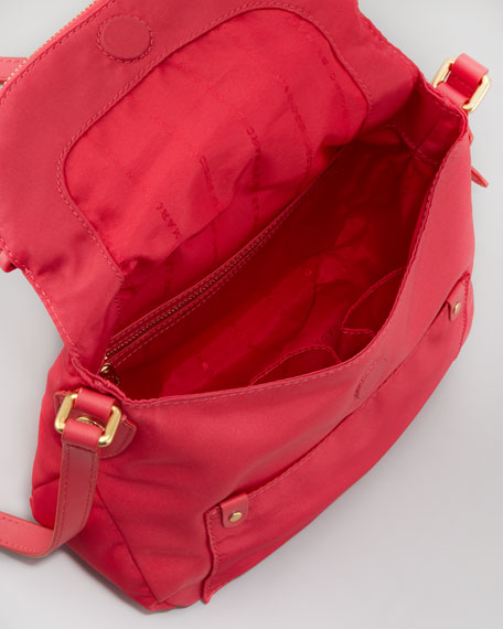 Mini Preppy Nylon Natasha Crossbody Bag, Rock Lobster