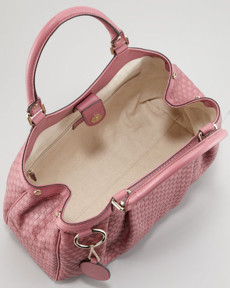 Sukey Microguccissima Tote Bag, Vintage Rose