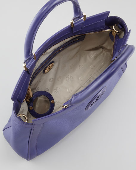 Hannah East-West Satchel Bag, Iris