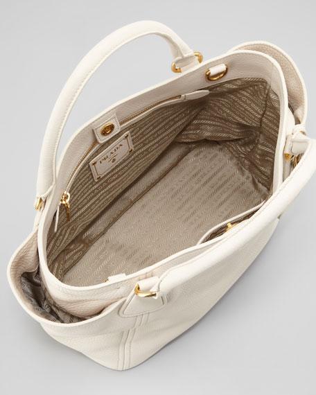 Daino Double-Pocket Tote Bag, Talco
