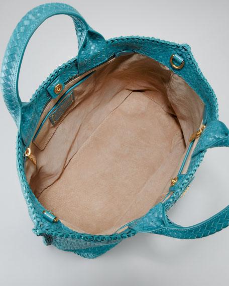 Madras Tote Bag, Pavone