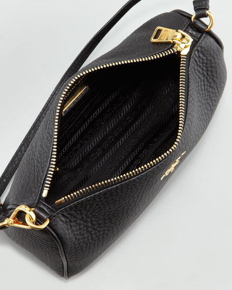 Daino Mini Shoulder Bag, Nero