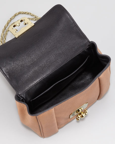 Elsie Small Shoulder Bag, Nut