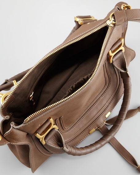 Marcie Medium Shoulder Bag, Brown Seed
