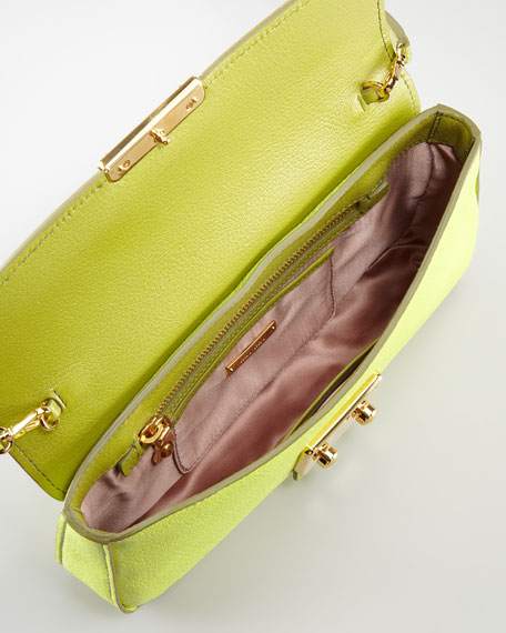 Madras Bicolor Shoulder Bag, Lime/Felca