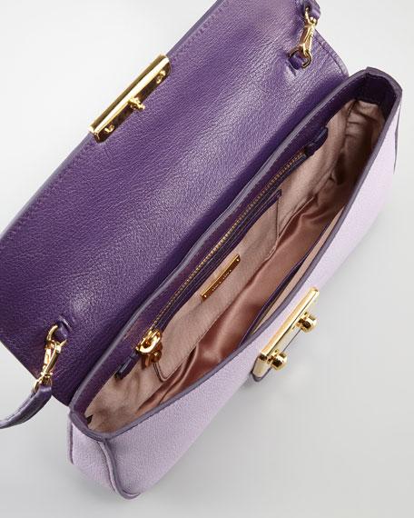 Madras Bicolor Shoulder Bag, Glycine/Viola