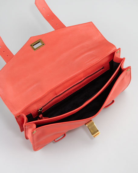 PS1 Pochette Clutch Bag, Deep Coral