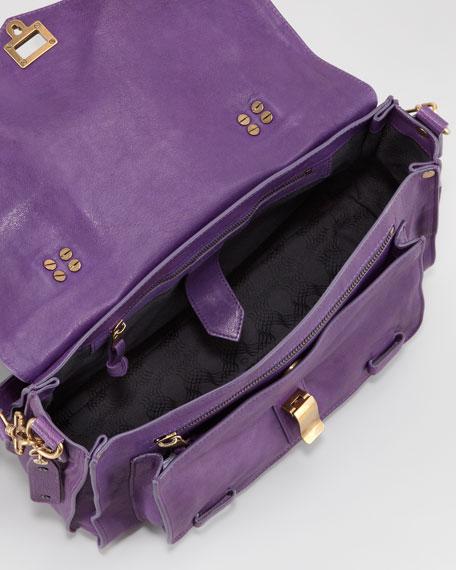 PS1 Medium Satchel Bag, Plum