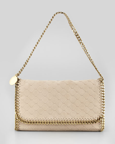 Falabella Flap-Top Clutch Bag, Bamboo