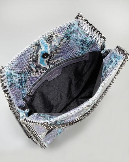 Baby Bella Faux Python Tote Bag, Navy