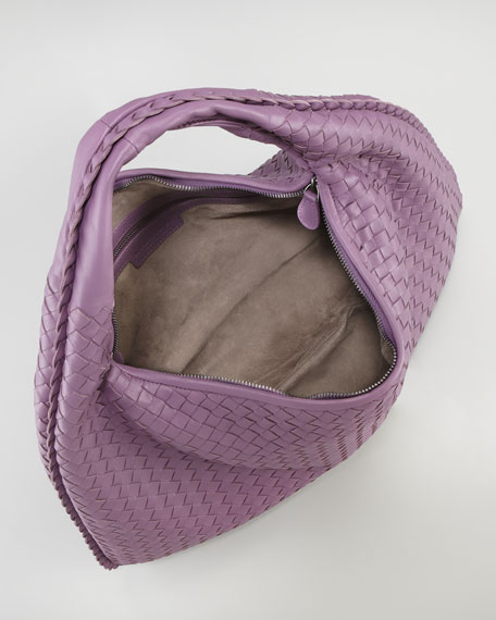 Veneta Large Hobo Bag, Purple