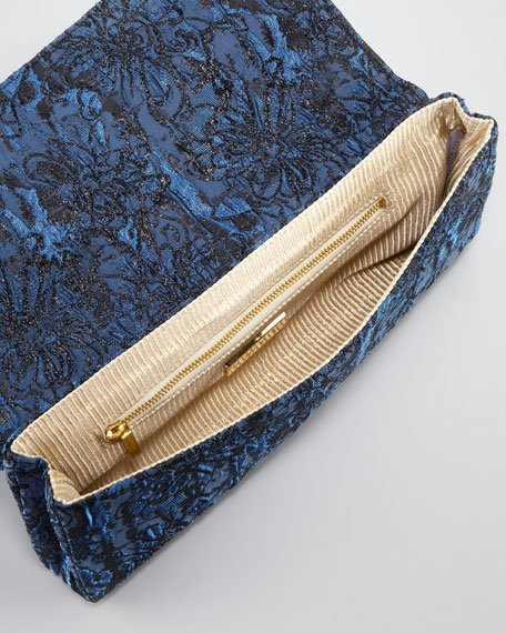 Caroline Floral Silk Brocade Clutch Bag