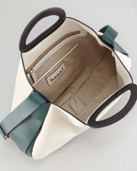 Colorblock Shoulder-Strap Tote Bag