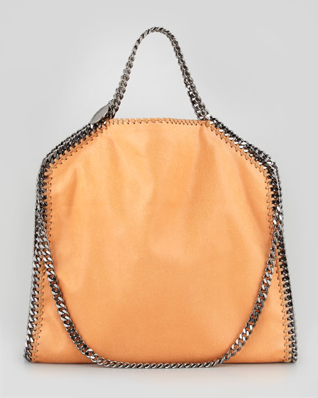 Fold-Over Falabella Shoulder Tote Bag, Orange