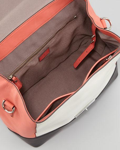 440 Small Colorblock Satchel Bag