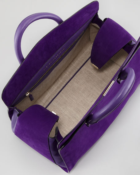 Victoria Soft Double-Handle Handbag, Purple