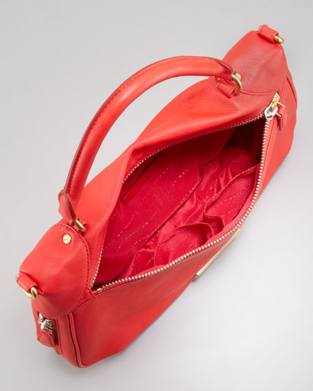 Washed Up Amee Satchel Bag, Scarlet