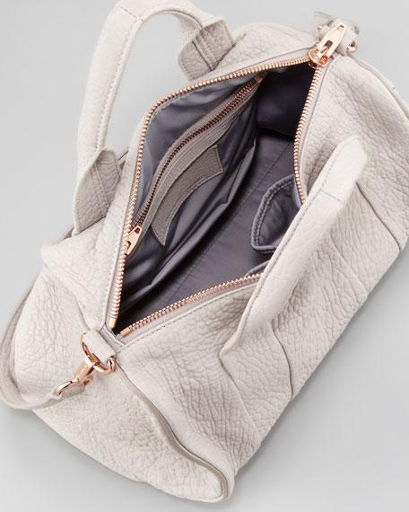 Rocco Stud-Bottom Satchel Bag, Lilac/Rose Golden