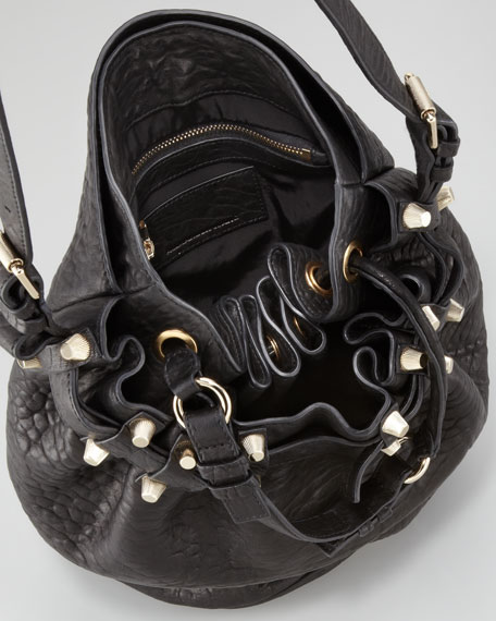 Diego Bucket Bag, Black/Yellow Golden