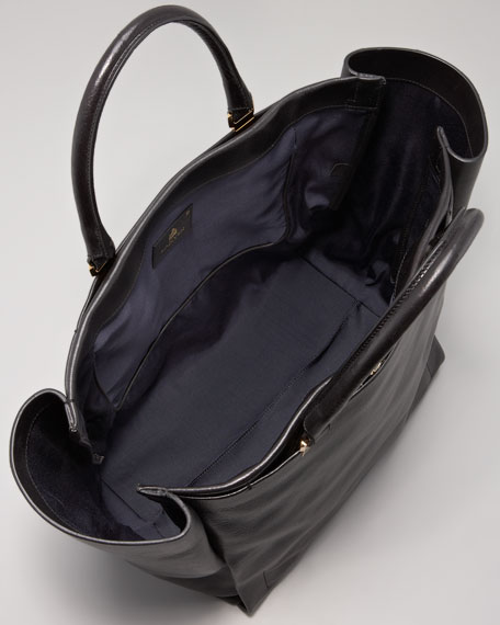 Moon River Leather Tote Bag