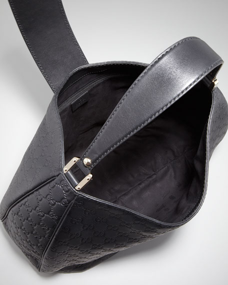 New Ladies Web Large Hobo Bag, Nero