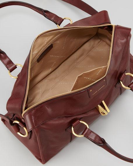 Fulton Large Satchel Bag, Tan