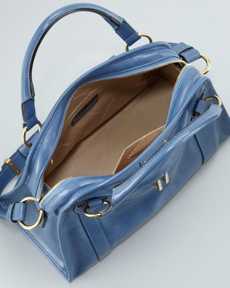Classic Wellington Satchel Bag, Denim