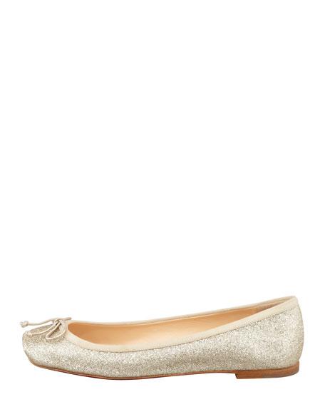 Rosel Glitter Ballerina Flat, Gold