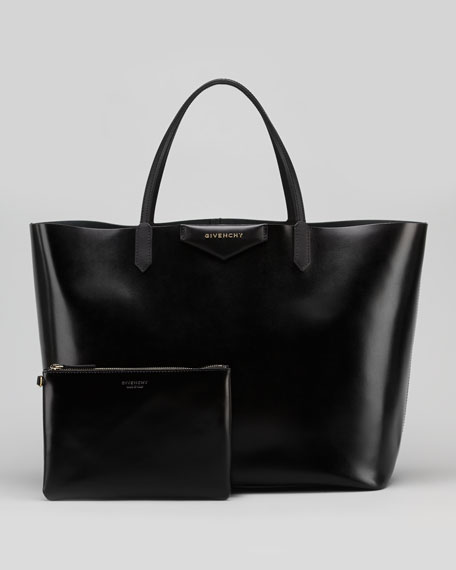 Antigona Large Box Shopper Bag, Black