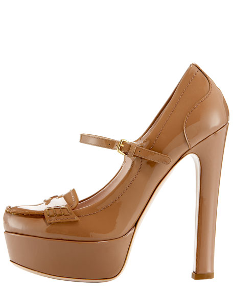 Moccasin Mary Jane Platform Pump