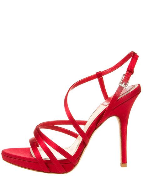 Strappy Satin Sandal