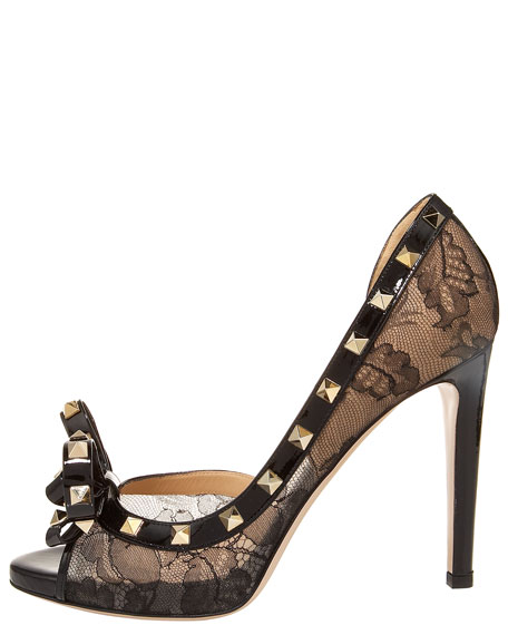 Studded Lace Half-d'Orsay