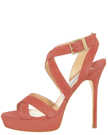 Suede Crisscross Platform Sandal